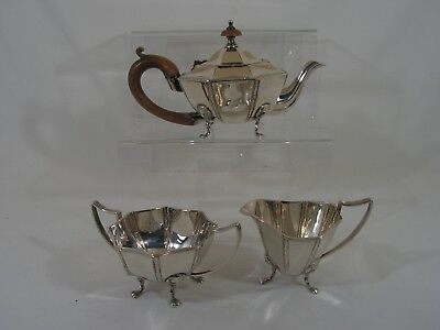VICTORIAN 3 PIECE SILVER PLATED TEA  SERVICE Registration No 558707 LION MASK