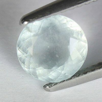 1.50 cts.7.7 x 7.3 mm.UNHEATED NATURAL  BLUE AQUAMARINE OVAL BRAZIL