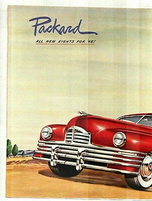 1948 Packard Eight Color Sales Brochure