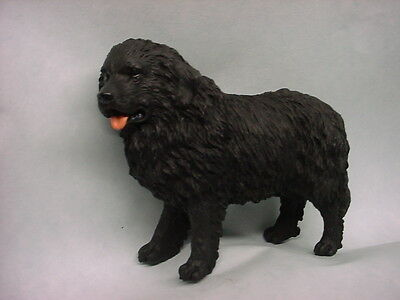 NEWFOUNDLAND dog HAND PAINTED FIGURINE Puppy COLLECTIBLE Resin Statue