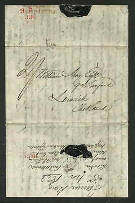 Pre-Stamp Entire Ship letter to Shetland with 2d Paid Mark.