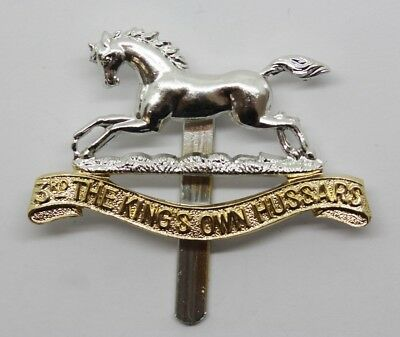 3rd The King's Own Hussars Anodised (Staybrite) Cap Badge #30