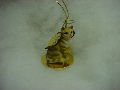 BROWN TABBY kitty CAT ANGEL Ornament resin Figurine COLLECTIBLE Christmas kitten