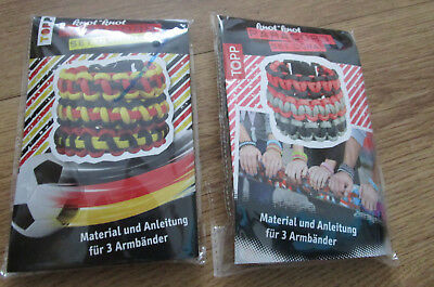 2 Paracord Sets, Set Germany, Set Coral OVP