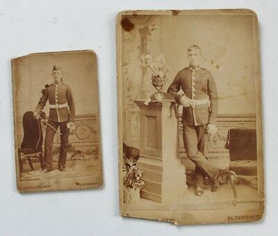 2 x Original Victorian Military Photographs of Soldiers in Uniform #40