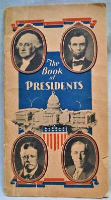 The Book Of Presidents Brochure 1940 Vintage Standard Brewing Company