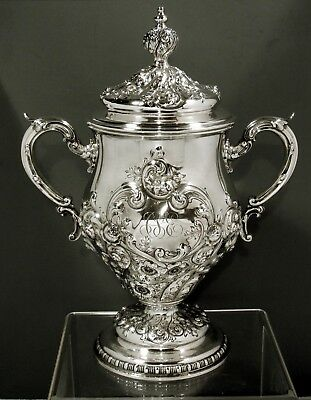 """Gorham Sterling Cup & Cover     1903    """" USED AS WINE COOLER """"      75 OZ."""