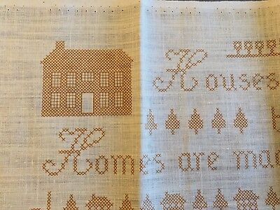 """Vintage Jane Snead Samplers Embroidery Kit """"Homes Are Love Alone"""" Cross-Stitch"""