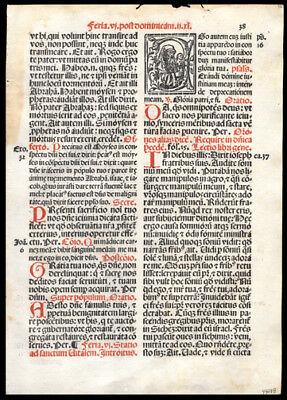 Season of Lent Easter 1566 Scarce Roman Missal Leaf Gospel of Matthew 21