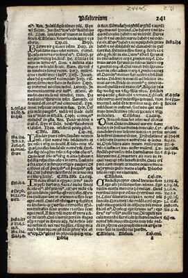 "110-118 Book od Psalms 1519 Giunta Latin Bible Leaf ""Praise ye the Lord"""