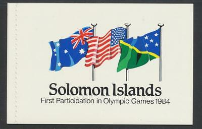 Solomon Is 1984, $3.95 Olympic Stamp Booklet Vf Sg#sb7  (See Below)