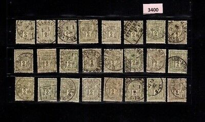 3400 Luxembourg - Allegorie Pax & Mercur lovely selection of USED stamps 2 Cents