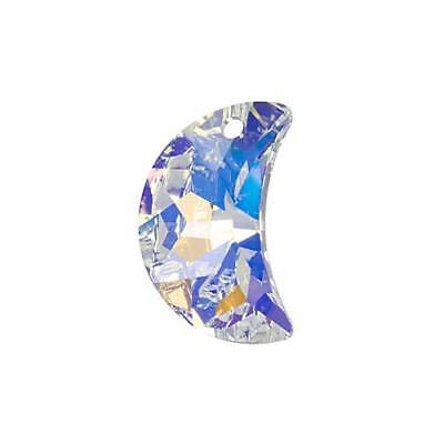 Swarovski Crystal, #6722 Moon Pendant 20mm, 1 Piece, Crystal AB Foiled