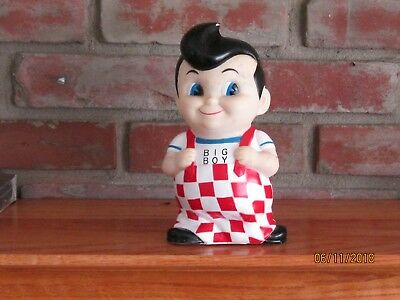 1992 Bob's Big Boy Figure Bank Used Condition With Stopper On Bottom