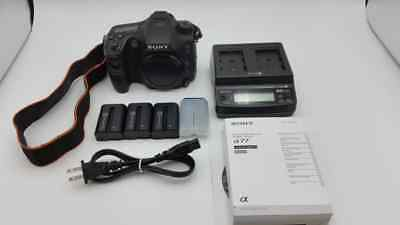 PRE-OWNED Sony Alpha SLT-A77 24.3MP Digital SLR Camera - Black (Body Only)