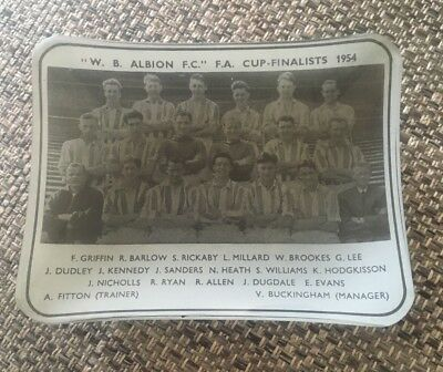 1954 Fa Cup Final - West Bromwich Albion - Glass Ashtray (Excelent Condition)