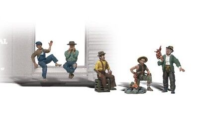 NEW Woodland O Scale Hobos Train Figures A2734