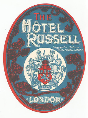 HOTEL RUSSEL luggage DECO label (LONDON)