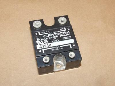 NOS Crydom Solid State Relay 120V 40A 90-280V Input A 1240 in Box