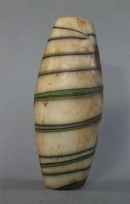 Large Heavy Old Glass Bead North India