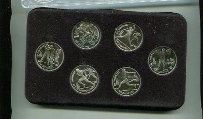 1992 Olympic Russia Ussr 6 Coin Proof Set /50,000