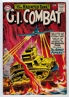 Gi Combat #107 5.0 Kubert Cover/art Haunted Tank 1964 Off-White Pages