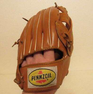 Pennzoil Advertising Baseball Glove with Ron Santo Jiffy Lube Promotional item