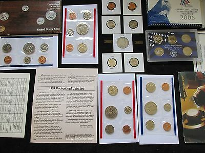 OLD US COINS LOT MINT+PROOF +90% SILVER 1907 Half DOLLAR ~BU  Wheat cents~~B55