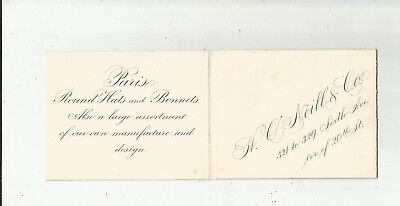 1880 O'NEILL NYC Sixth Ave Paris Hats Bonnets Costumes Fall Opening Invitation
