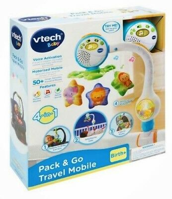 VTech Baby Pack & Go Travel Mobile 4 In 1 Cot Pram Playpen Carrier Birth +