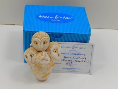 Rare Adam Binder Special Moments Series Limited Edition Hoot N' Nanny Figurine