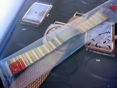NEW old stock Girard Perregaux gold plated & steel metal band, 20 mm, NEW,