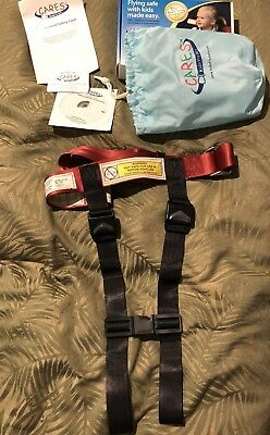 CARES Kids Fly Safe Airplane Aviation Harness Seatbelt Safety Restraint in bag