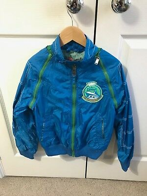 Boys royal blue Diesel jacket/gilet with removable sleeves size small age 8/9