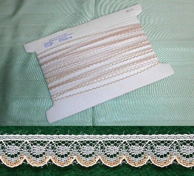 Flat White/Gold Lace  - 20 metres
