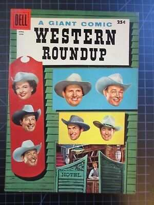Dell Western Roundup #14 1956 Nice Copy Roy Rogers Gene Autry Dale Evans