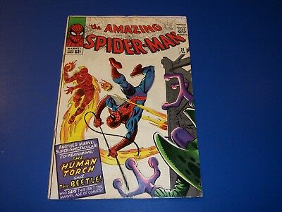 Amazing Spider-man #21 Silver Age Human Torch 2nd Beetle Key Issue