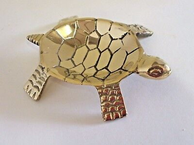 Brass Turtle Incense Burner - Ring Dish