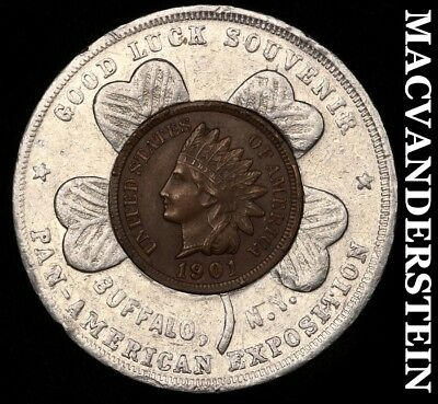 Lucky Penny: 1901 Indian Head Cent- Pan-American Expo, Buffalo Ny !!  #y3628