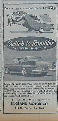 1958 newspaper ad for Rambler - True Economy Car, Does your car own you?