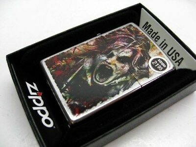 Zippo Full Size Street Chrome Zombie Classic Windproof Lighter 28876