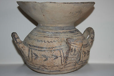 ANCIENT GREEK DAUNIAN  POTTERY OLLA CRATER 6th CENTURY BC