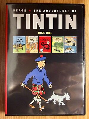 Herge The Adventures of TinTin  -  10 Classic Cartoons On 2 New DVDs