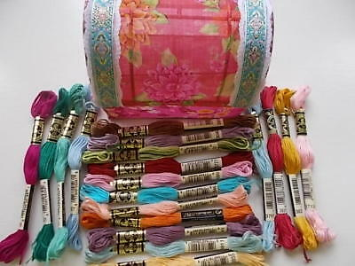 Cross stitch/ Embroidery Threads 20 Skeins & Box New & banded by DMC