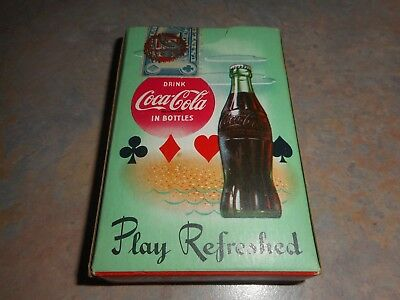 Vintage 1958 Coca Cola Playing Cards With Sealed Original Box