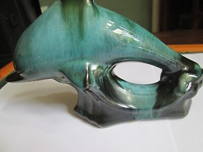 Blue Mountain Pottery Canada Dolphin stands 12cm high 18cm long VGC