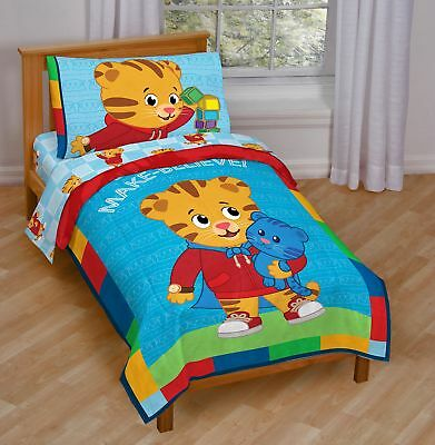 PBS Kids Daniel Tiger Bedding (Blue Toddler Bed) New!