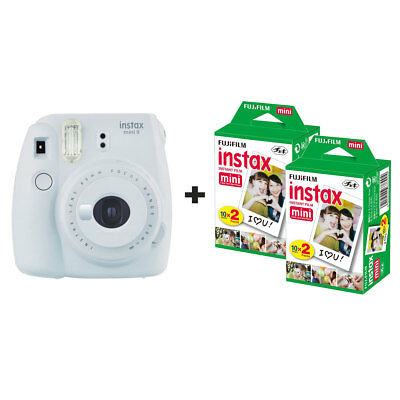 Fuji Fujifilm Instax Mini 9 Instant Camera with 40 Shots - Smoke White