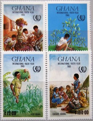 GHANA 1985 1097-00 970-73 Intl. Youth Year Jahr der Jugend Kinder Children MNH