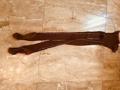 capezio Crystalizated Fishnets  Ballroom Dance, Size M,made In Italy. Retail $35